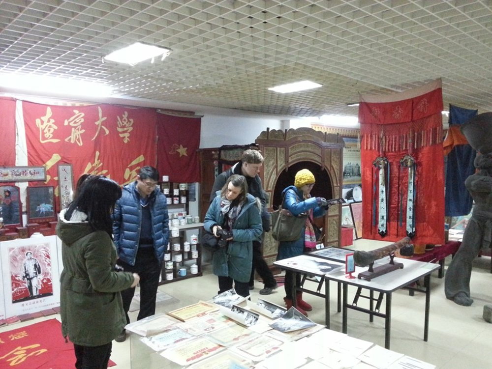 Visiting the Local History Museum in Shenyang, March 2015