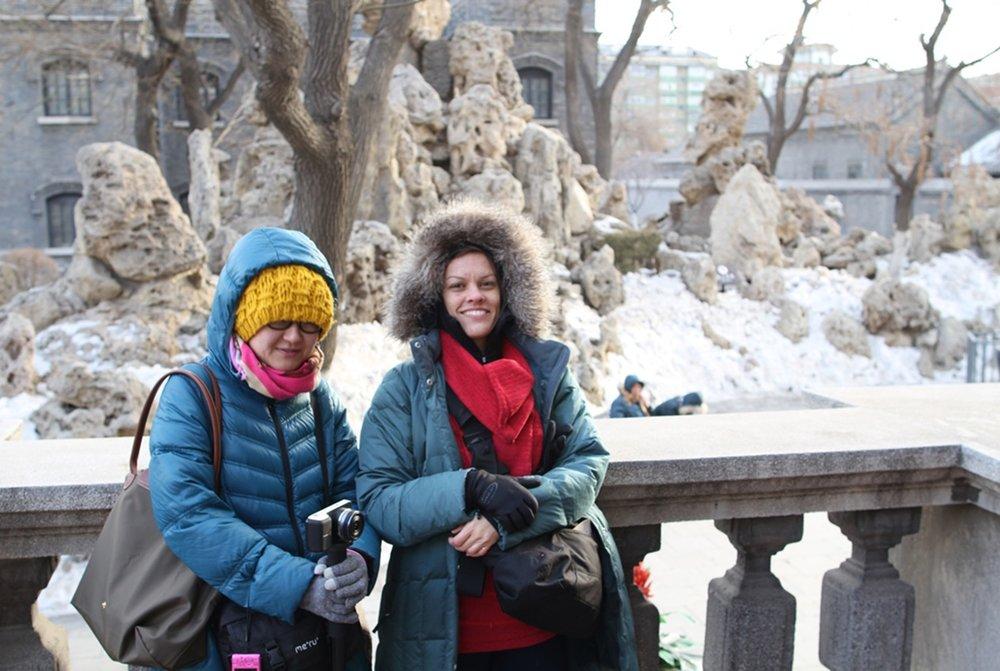 Guan Rong & Sara Velas at General Zhang Mansion, March 2015 photo credit: Moritz Fehr