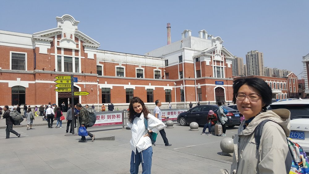 Ruby Carlson and Guan Rong at Shenyang Station, May 2017 photo credit: Sara Velas