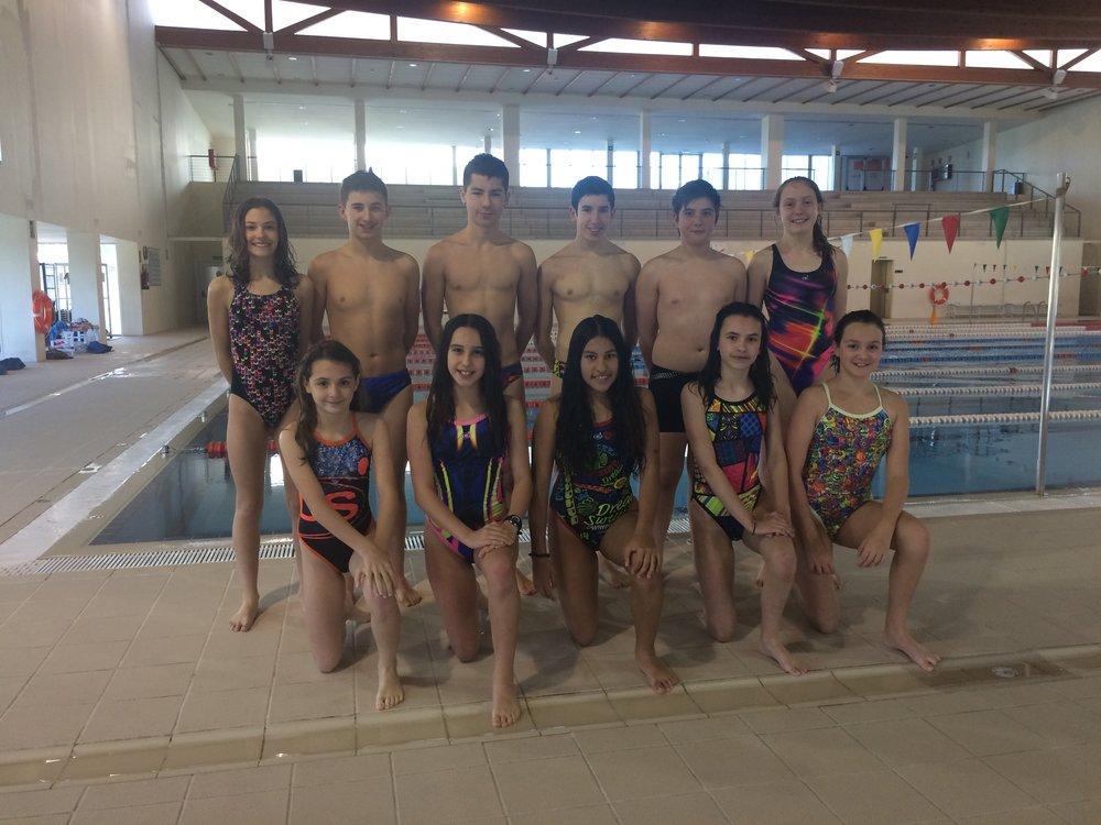 Nadadores riojanos que acudieron a la Jornada de Tecnificación
