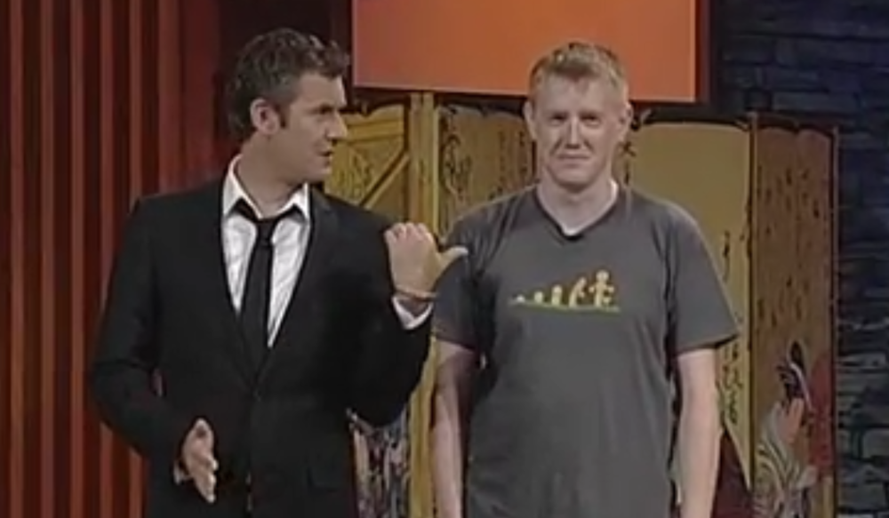 My awkwardly on TV with Adam Hills