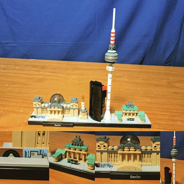 My first #LEGO city architecture set, Berlin! It's beautiful, I love the details. Especially the Berlin Wall #berlin #berlinwall #reichstag #afol #architecture #brick #bricks #legos #minifig #minifigures #bricknetwork #bricktease