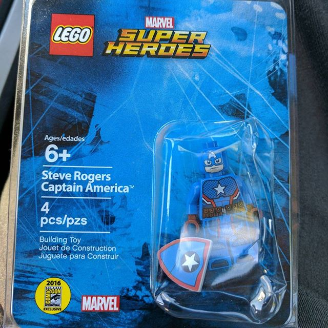 Look what I got myself as a birthday gift! #lego #marvel #captainamerica #comiccon #afol