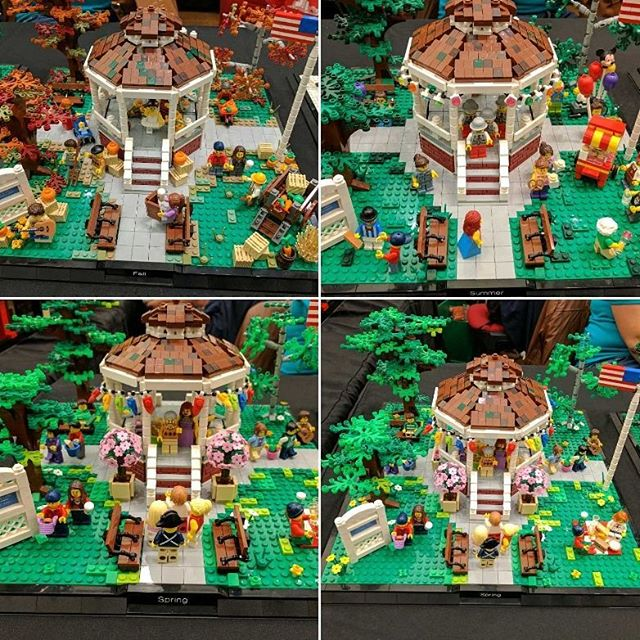 Any #gilmoregirls fans recognise these scenes! They are so cool #sydneybrickshow #lego #brick #afol #bricknetwork #bricktease #toyphoto #minifig #toy #legophoto #bricks #legos
