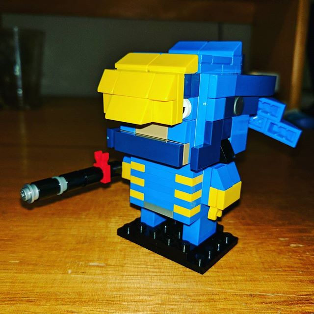My first attempt at a LEGO BrickHead. Pharah from Overwatch! #lego #pharah #overwatch #brickheadz #brickhead #afol #lego #brick #MOC #legobrick #bricktease
