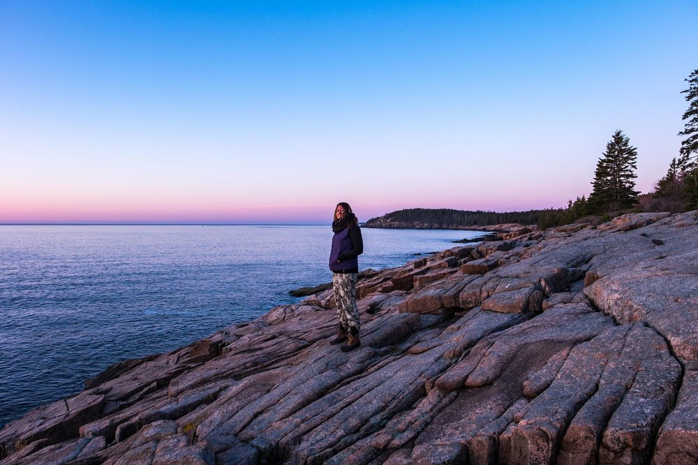 Hanging out in Acadia National Park in Maine