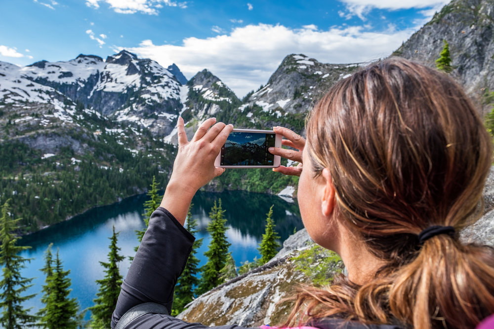 iPhone shot at Thornton Lakes in North Cascades National Park backcountry in Washington state