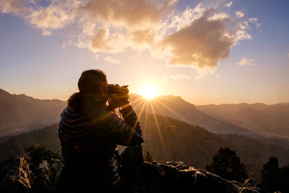 Capturing the sunrise on Trail Ridge Road in Rocky Mountain National Park in Colorado