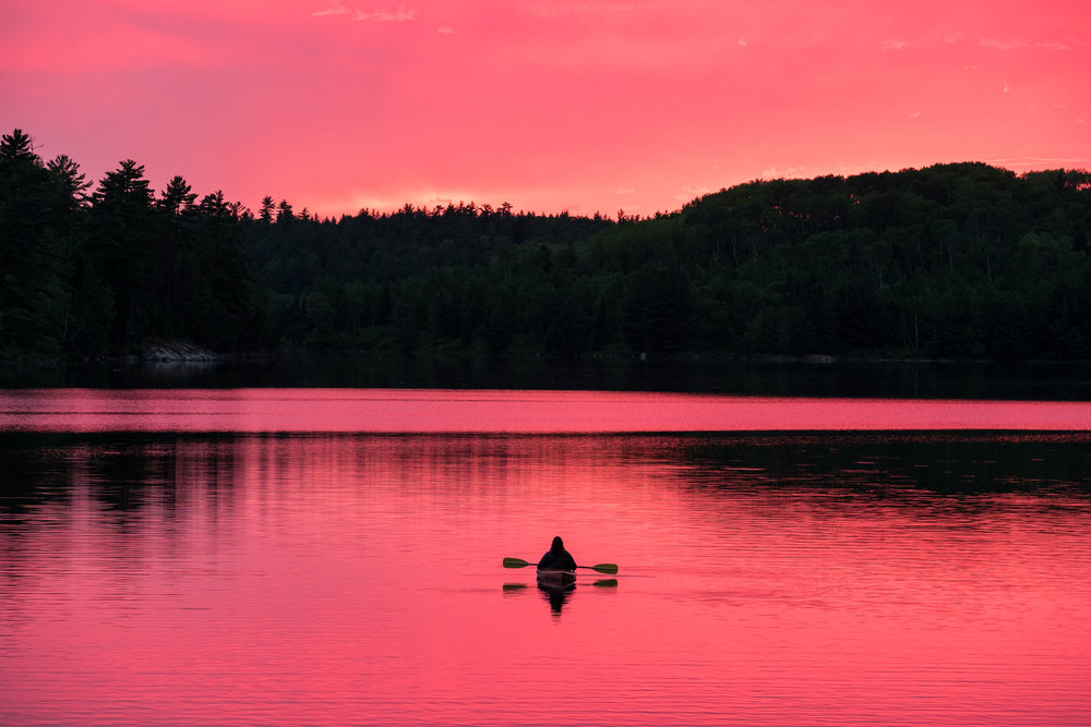 Paddling through a technicolor waterworld at Voyaguers National Park in Minnesota