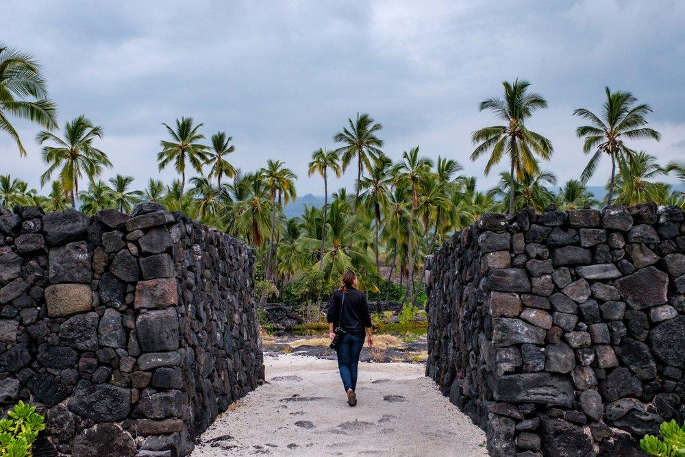 Side stop at the Pu'uhonua o Honaunau National Historical Park on the Big Island, en route to Hawai'i Volcanoes National Park