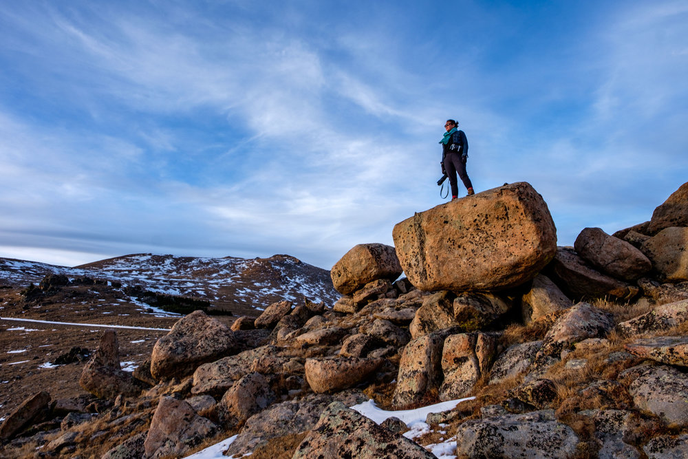 On top of the world at Rocky Mountain National Park in Colorado