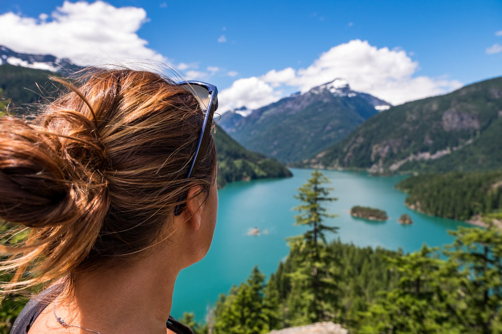 Overlooking Diablo Lake in North Cascades National Park in Washington (my home state!)