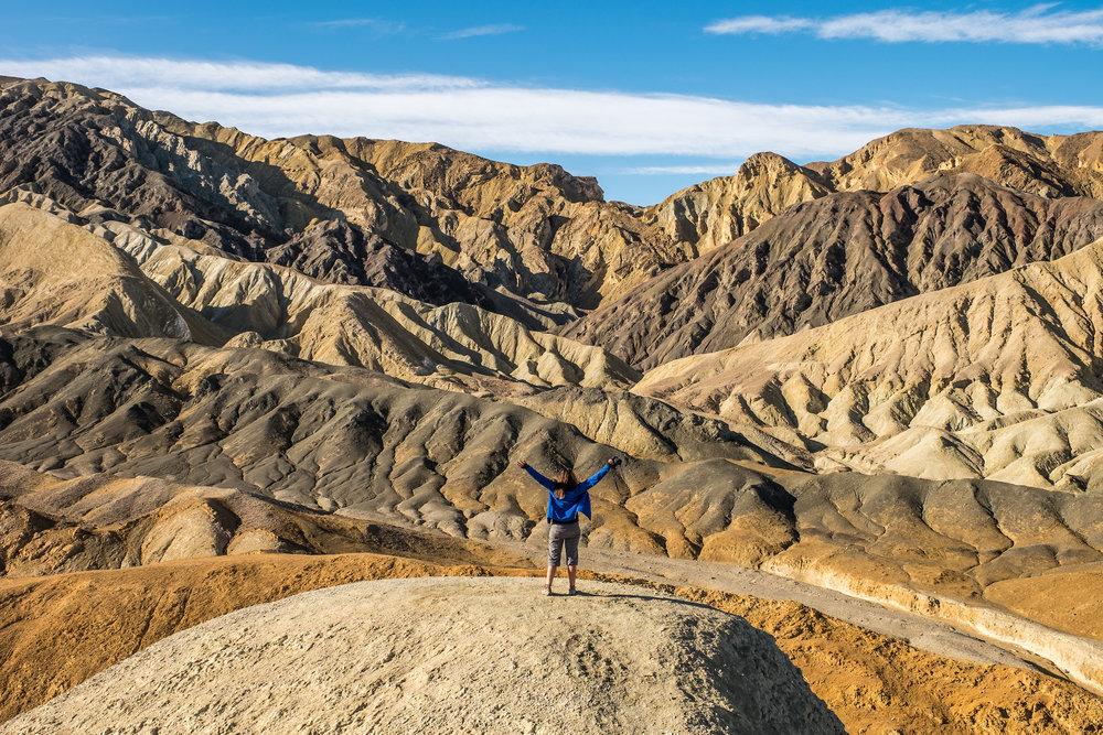 At Zabriskie Point in Death Valley National Park in California/Nevada