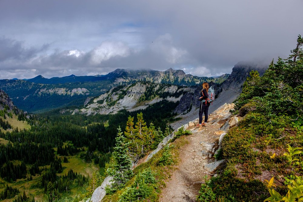 Hiking in the Sunrise section of my home park, Mount Rainier National Park in Washington state