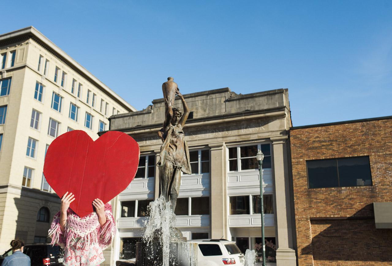 i heart johnson city | Lady of the Fountain