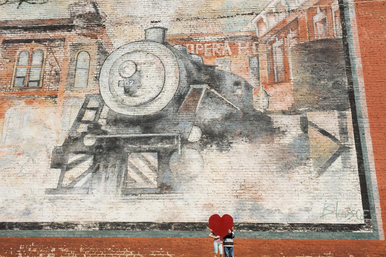 i heart johnson city | the train mural