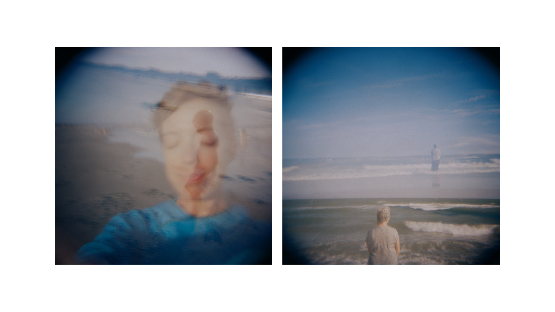 double-exposure images of figures at the beach // (c) jocelynmathewes.com