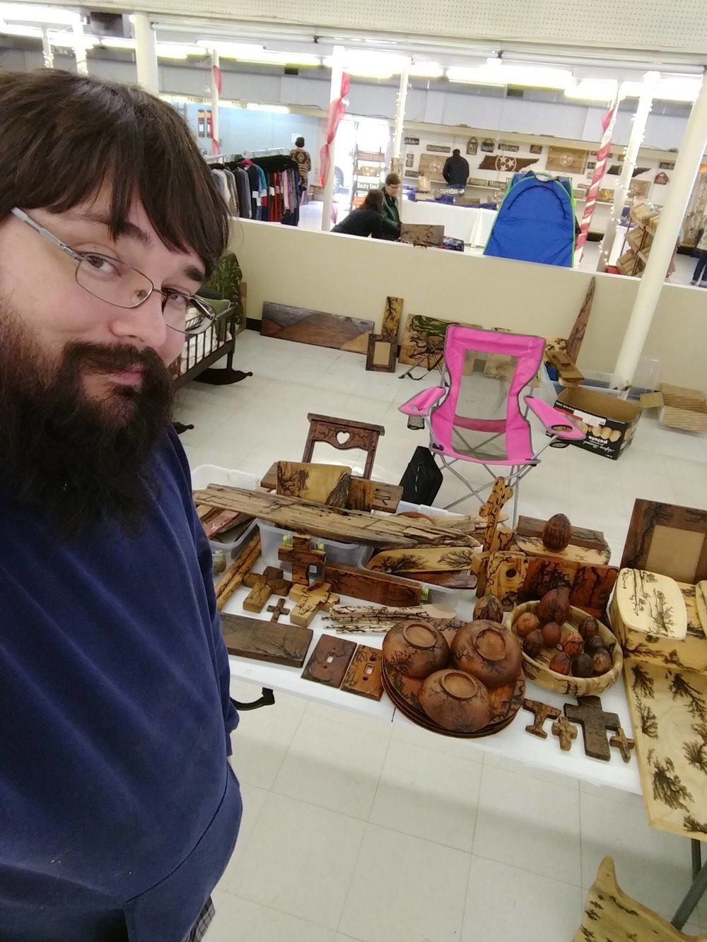 You can find most of Brenden's wares in-person at various local markets.