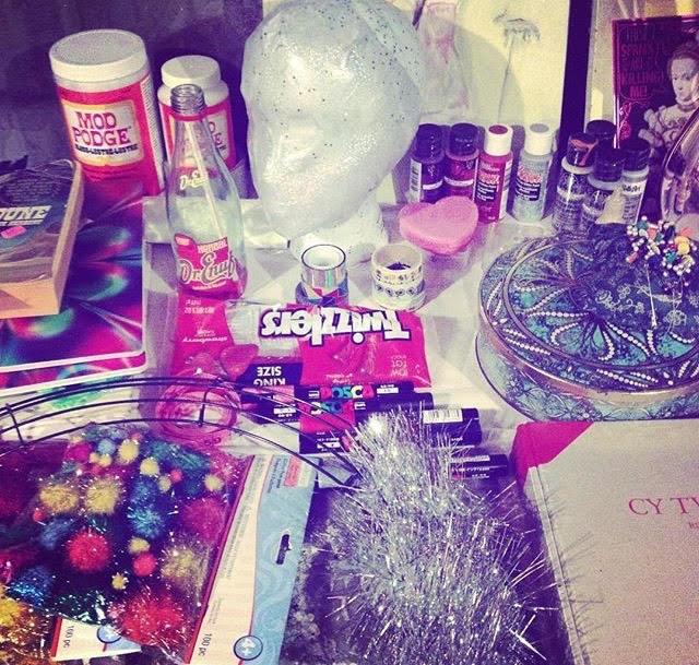 Layton's studio materials.