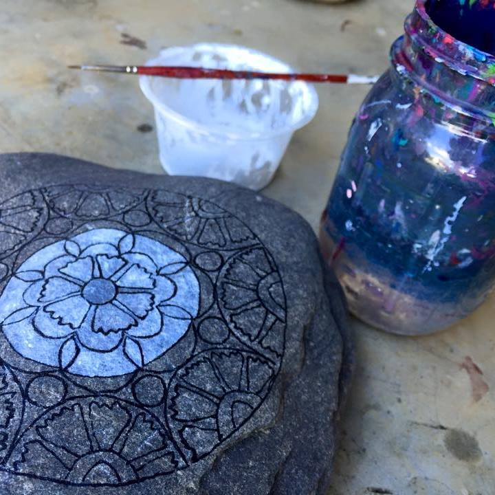 mandala in progress by Ingrid Dhyl of ArtSten