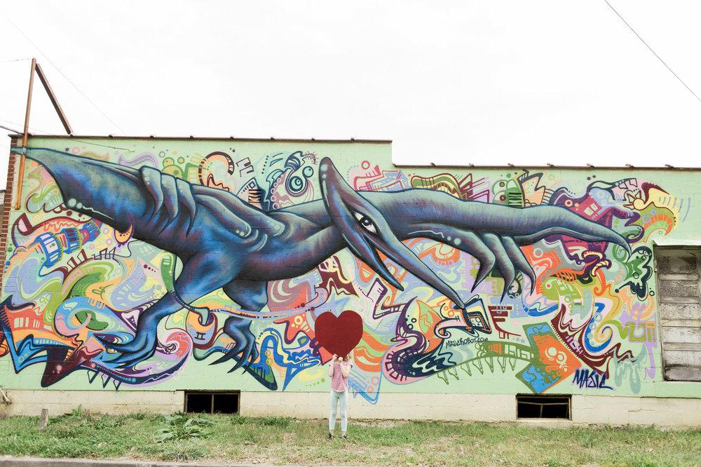 Pterodactyl Mural