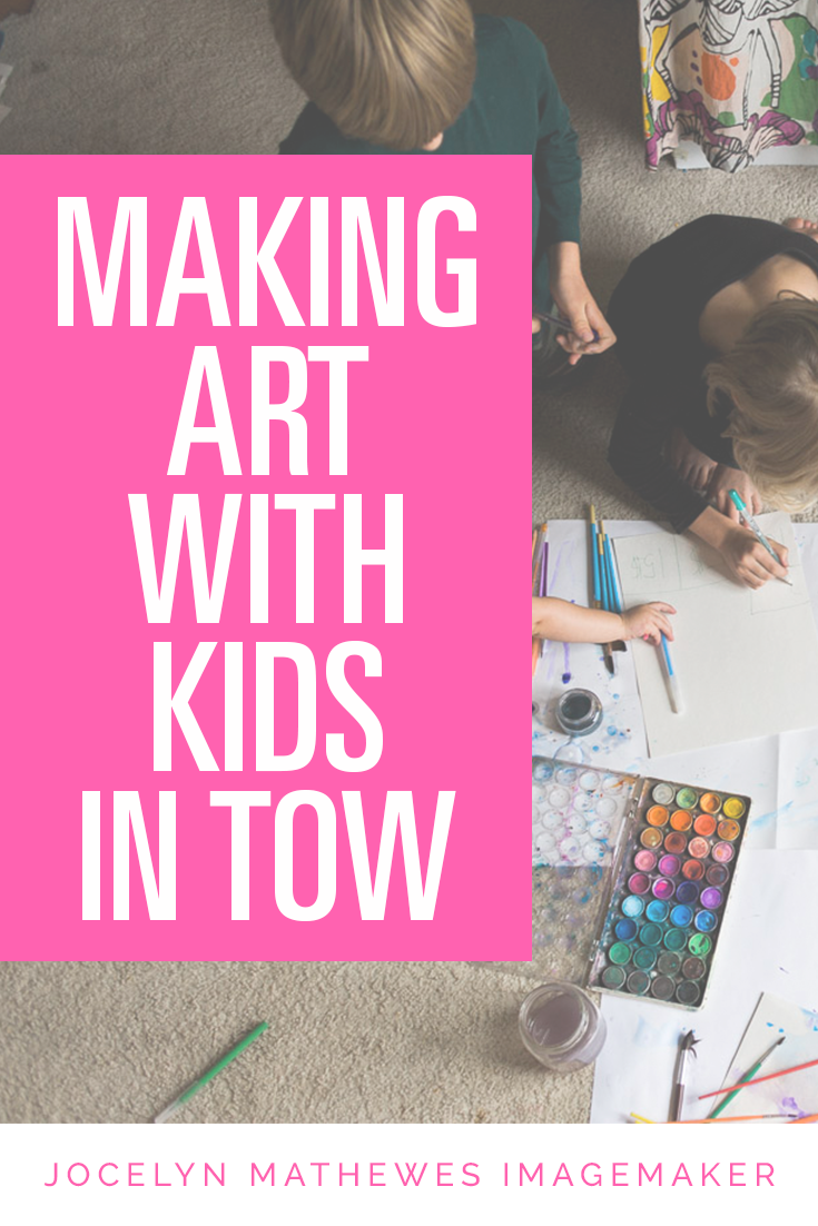 Keeping up with your art practice is super hard when your kids are little, but there are so many different ways to do it! Here are some ideas that worked for me -- check it out!