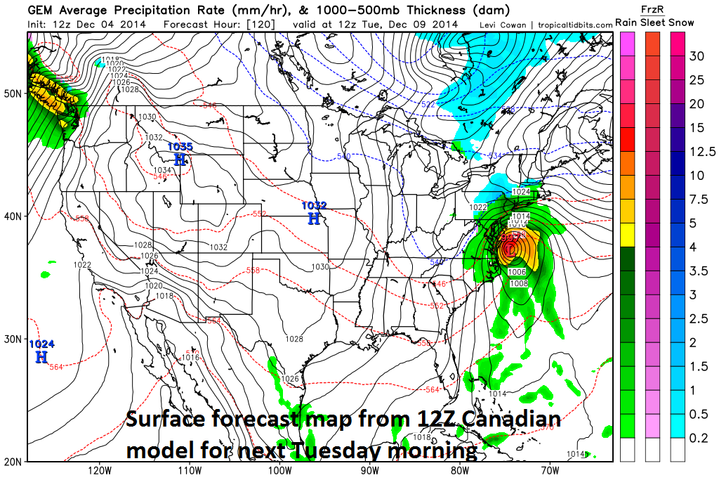 PM Potential Continues For Strong Storm In The Northeast - Us surface map weekly forecast