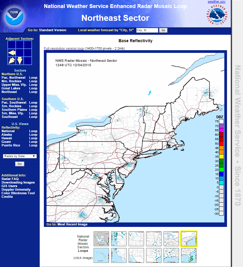 Radar And Satellite Perspecta Weather - Northeast-us-weather-map