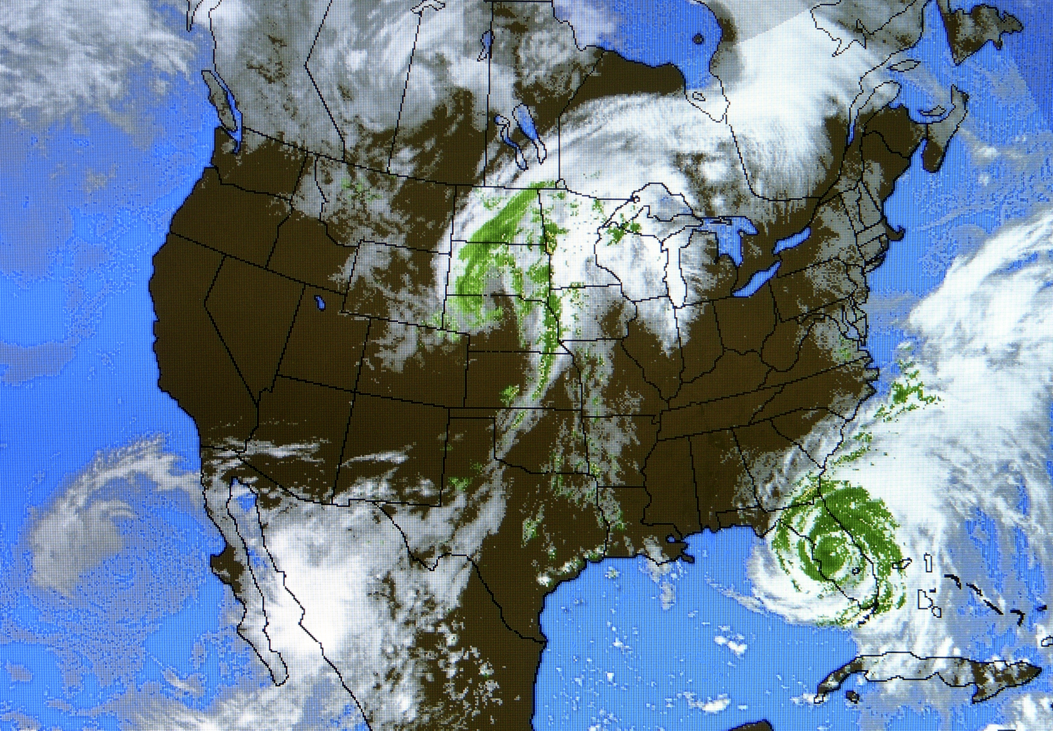 Maps Links Vencore Weather - Satellite weather map