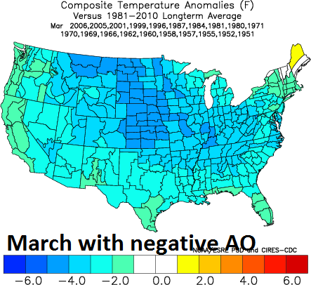 PM Teleconnections And Stratospheric Warming Support The - Us weather map march