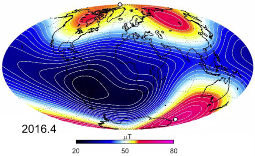 9:00 AM | *Magnetic North Pole is slowly moving towards Asia as