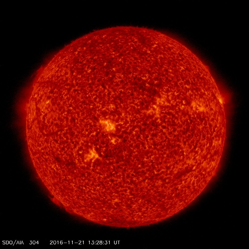 A current image of a very quiet looking sun; image courtesy NASA