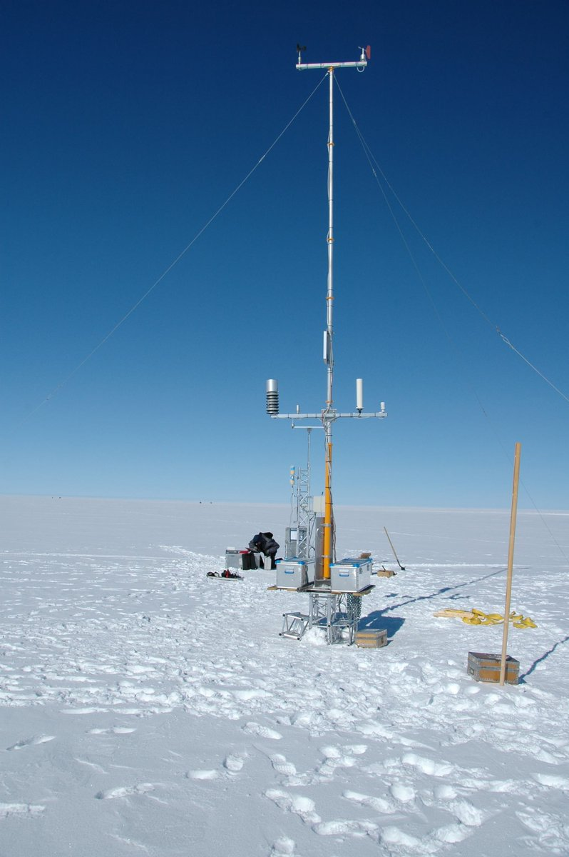 Summit Station (a.k.a., Summit Camp) located at the peak of the Greenland ice cap