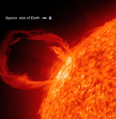 Image of coronal mass ejection from the surface of the sun