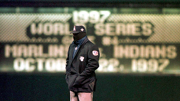 Image from Game 4 of the 1997 World Series in Cleveland, Ohio; courtesy espn.go.com