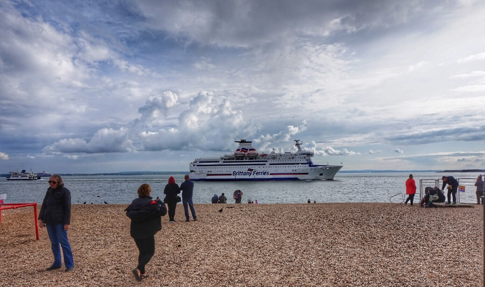 Brittany Ferries is always a welcome sight for the crowds on the beach.