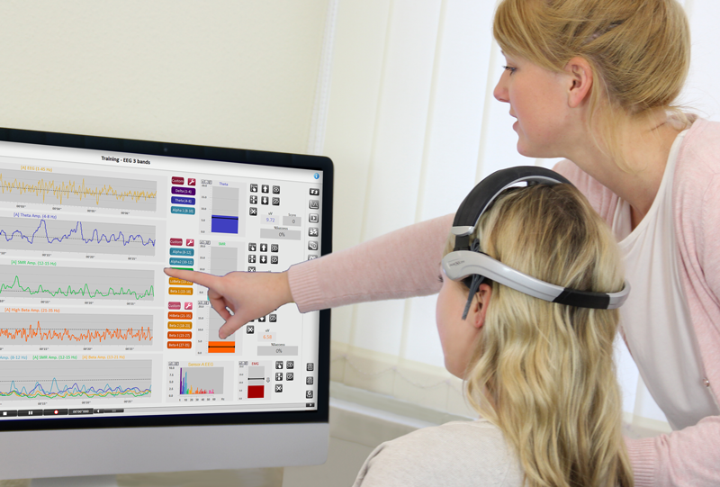 NeXus EEG headset and neurofeedback application