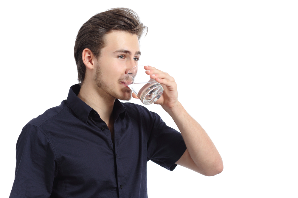 Stay hydrated throughout the day to keep your head clear
