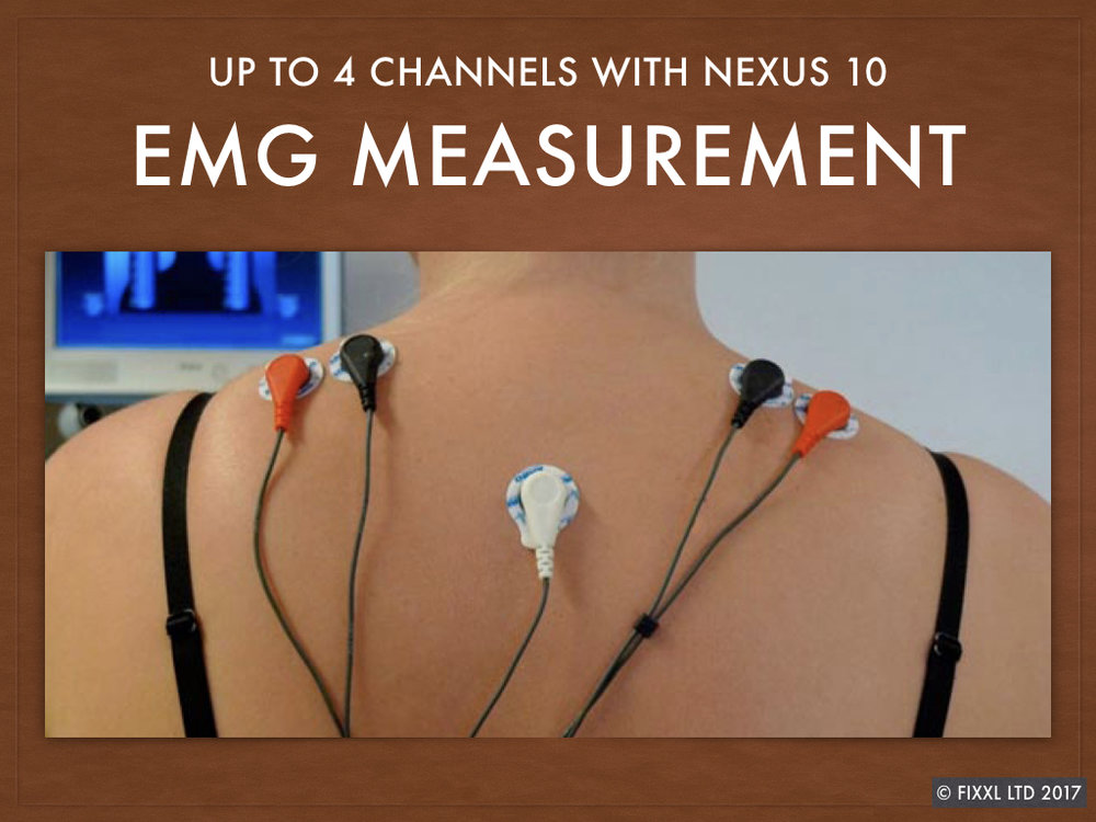 Recording EMG from the trapezius muscles - a common site for tension and stress