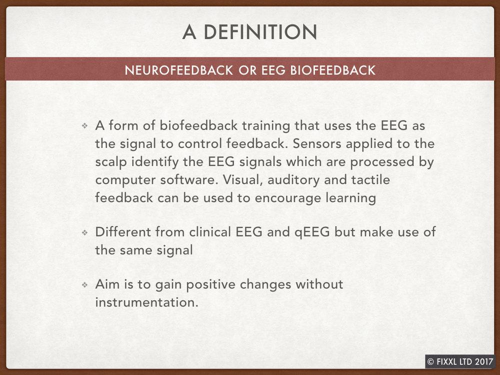 Definition of neurofeedback