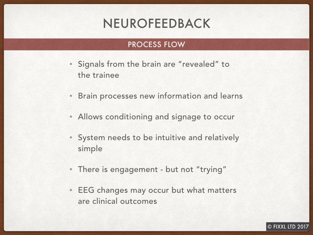 A neurofeedback process