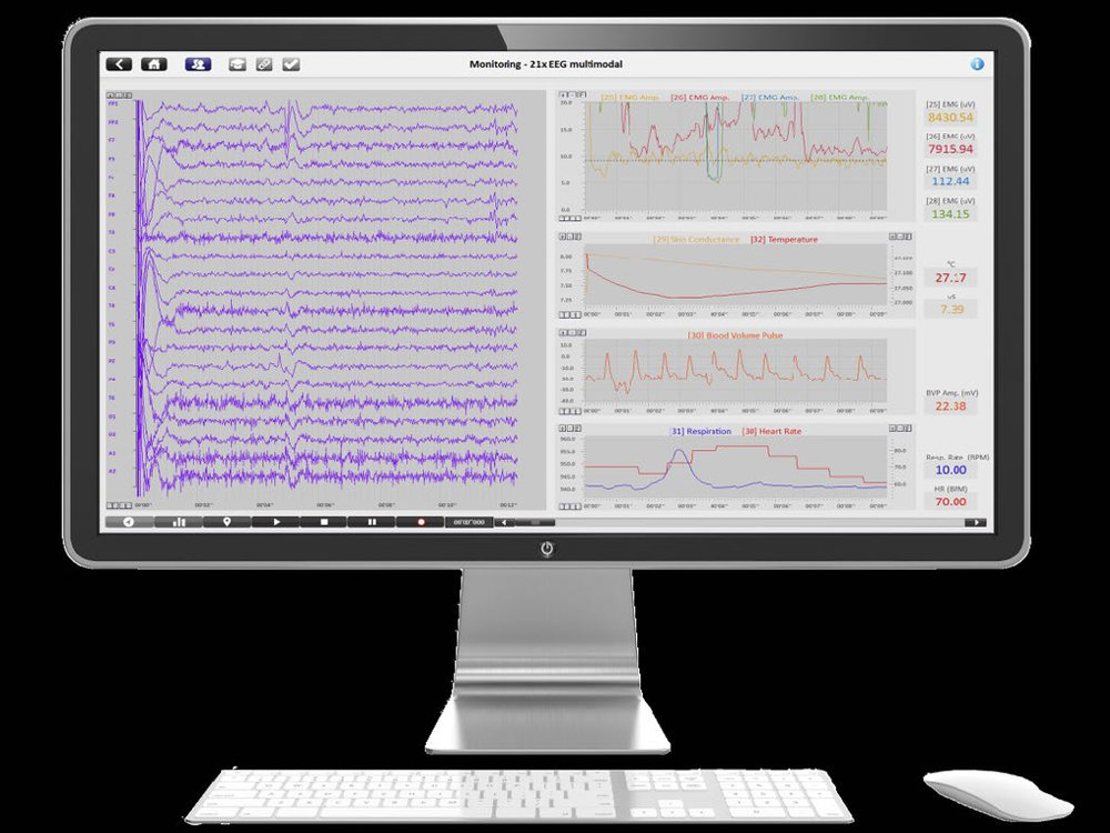 Raw EEG patterns are complex - neurofeedback relies on rapid and accurate real time processing of the EEG