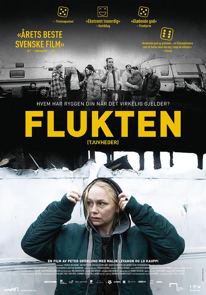 Plakat FLUKTEN - på kino fra 8. juli