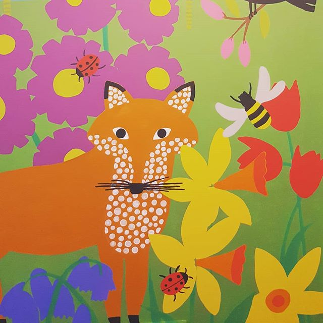 Finished the mural to go in Coco's room. #mural #childrensroom #childsroom #wallpainting #wallart #art
