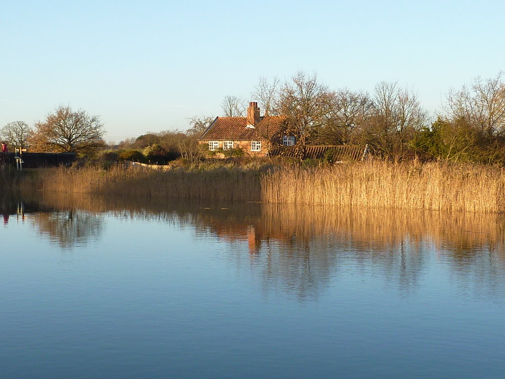 The River Alde which runs by Snape Maltings