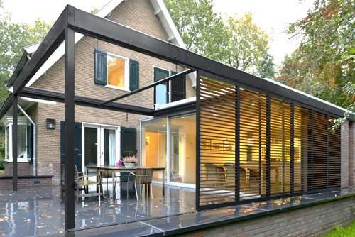 Houten aanbouw huis. fabulous houten aanbouw huis with houten