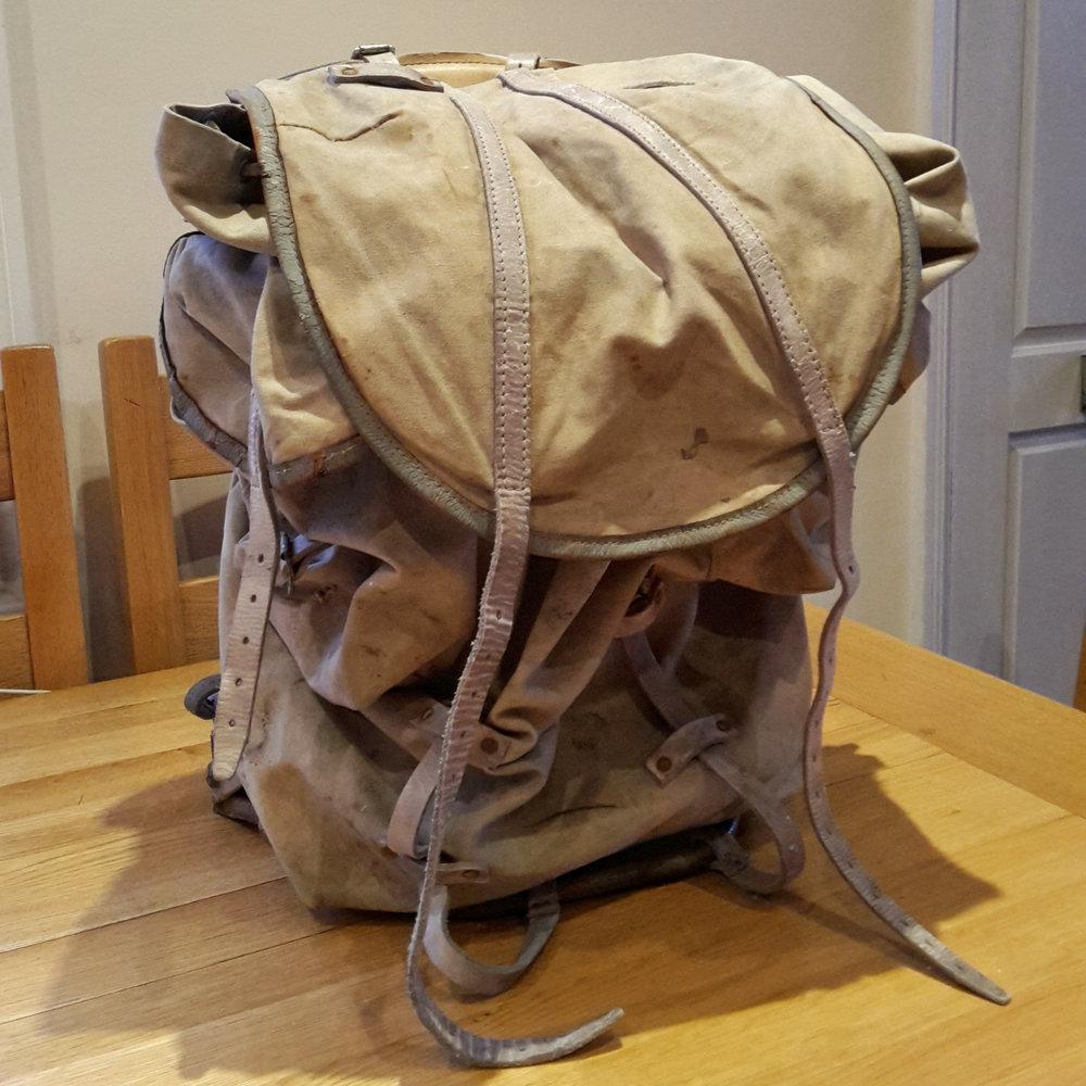 My vintage canvas rucksack