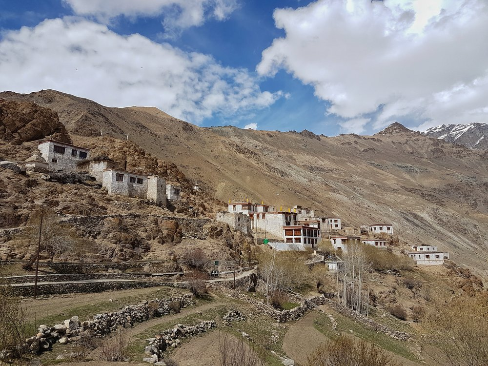 Terraced housing and fields of the Zanskar valley