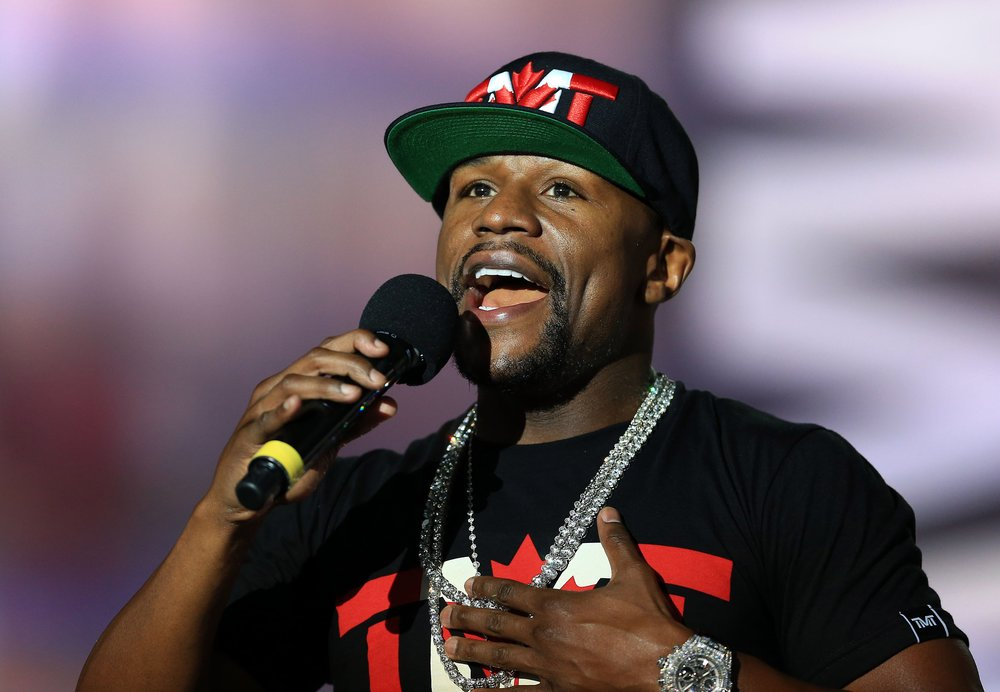 Floyd Mayweather Jr. during the press conference.jpg