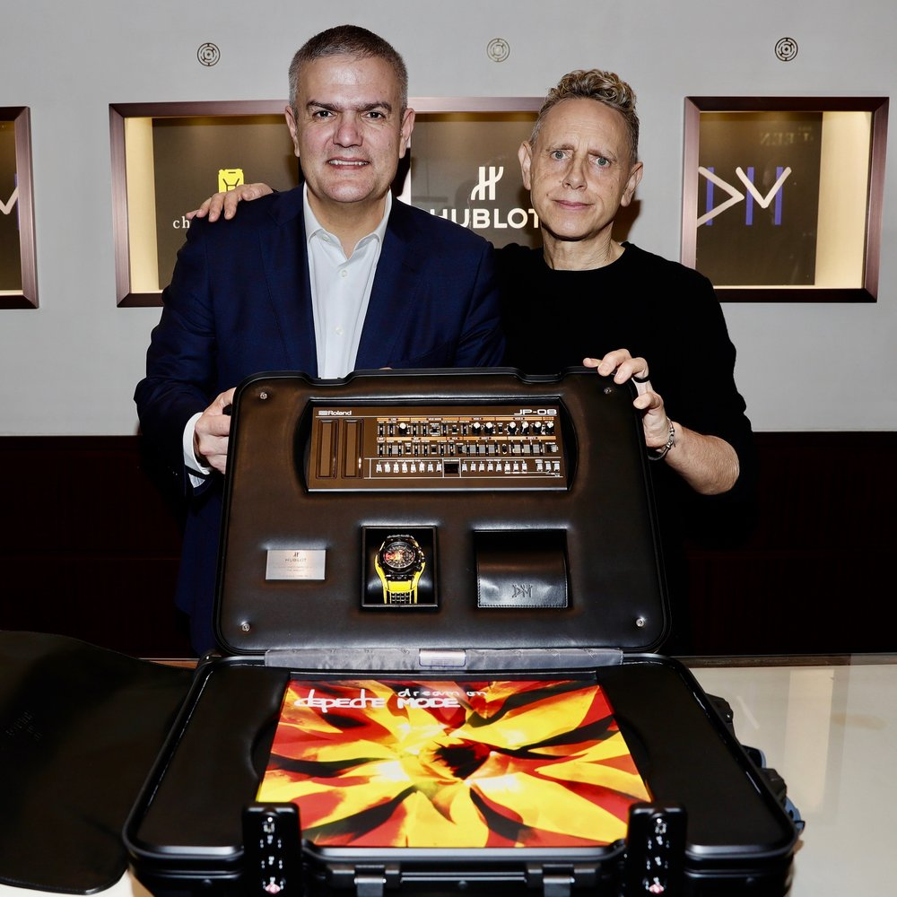 Ricardo Guadalupe and Martin Gore present the Big Bang Depeche Mode The Singles Limited Edition Set.jpg